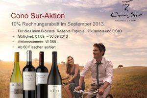 September News . . . Neue Weingüter und Chile Aktion Cono Sur bei der Gutsvertretung Schardt